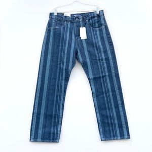 levis made and crafted stripe slim crop jeans
